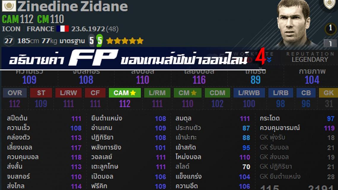 อธิบายค่า FP ในเกมส์ FIFA ONLINE 4